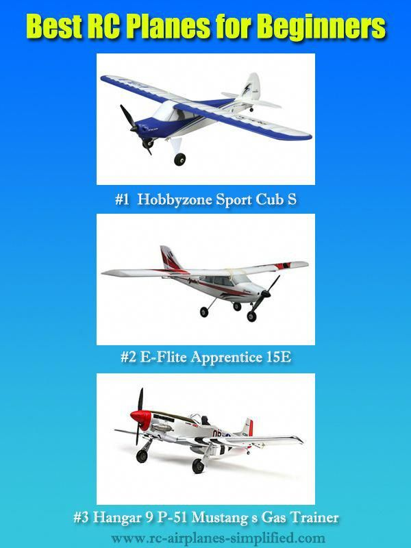 These 3 RC planes for beginners were chosen for their easy