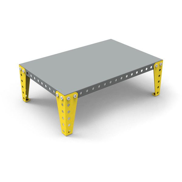 meccano home coffee table greyyellow small 470 cad liked