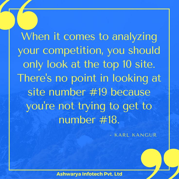 Karl Kangur on Competitor Analysis