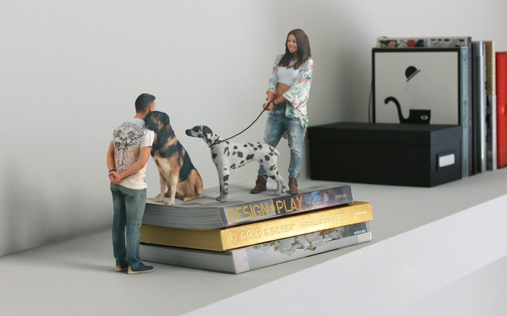 pets, friends, family - 3d printed miniatures