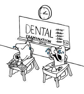 Keep your teeth stress free - do regular dental examinations.