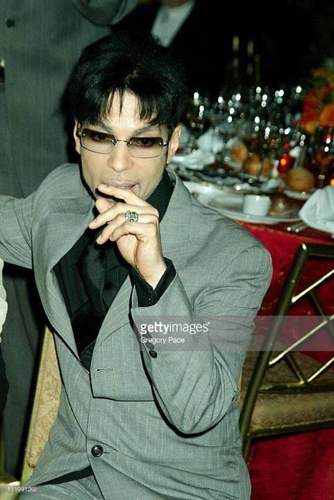 Prince during 2003 Clive Davis Pre-GRAMMY Party at The Regent Wall Street in New York, NY, United States. (Photo by Gregory Pace/FilmMagic)
