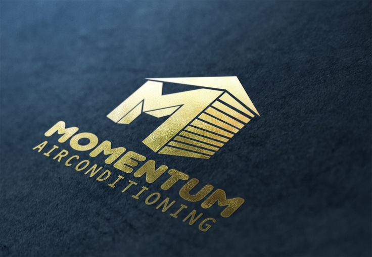 Momentum Air Conditioning Gold Logo Design