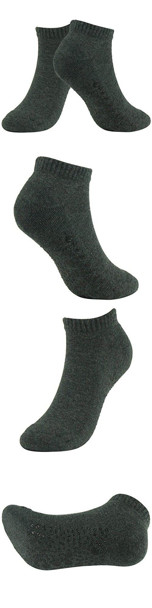 Full Toe Non Slip Skid Yoga Pilates Socks with Grips Cotton for Women