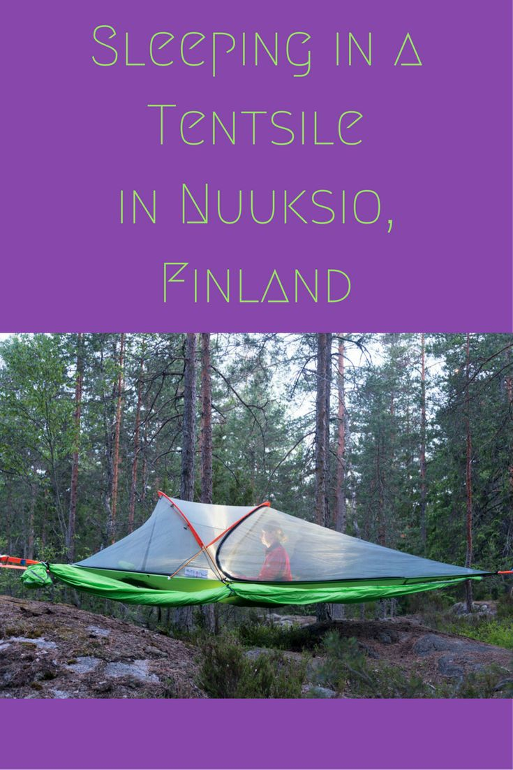 Two days in Nuuksio National Park, a perfect day trip from Helsinki, including sleeping in a hanging tent!