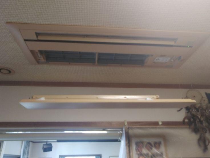 ダイキン フィルター掃除機能付きの天井埋込型エアコンと壁掛型
