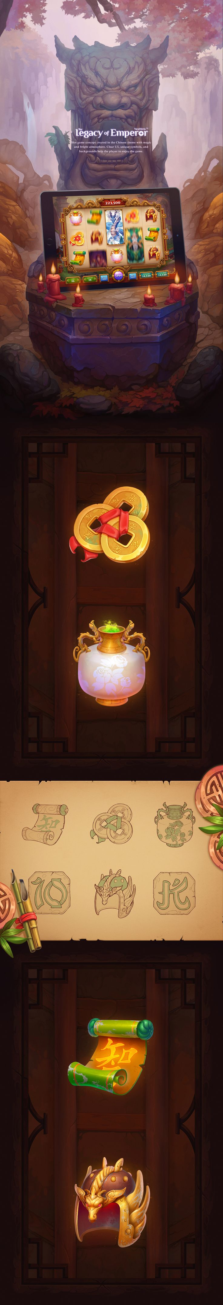 New game concepts made by our studio are shown here. Glad to represent Poker game with unique characters and Slot game concept created in the Chinese theme with magic and bright atmosphere. We'll be happy to create the art for similar games with you. Hop…