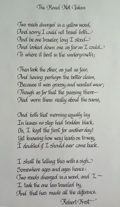 A meaningful poem makes a perfect gift when hand-written in calligraphy and framed.