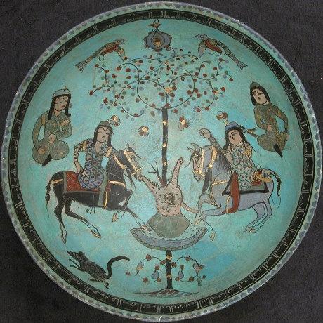 Seljuk Paired Horsemen on Ceramics, 12th to 13th centuries