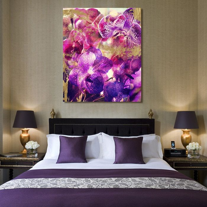 Orchid Gold Canvas Print, Oliver Gal - Gorgeous Gem Tones on Joss & Main