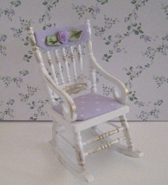shabby chic Rocking Chair, , a dollhouse mini in twelfth sca via Etsy ...