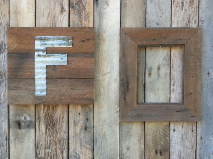 Reclaimed Heart Pine 11 X 18 Intial Sign And 11 X 14 Picture Frame! Can