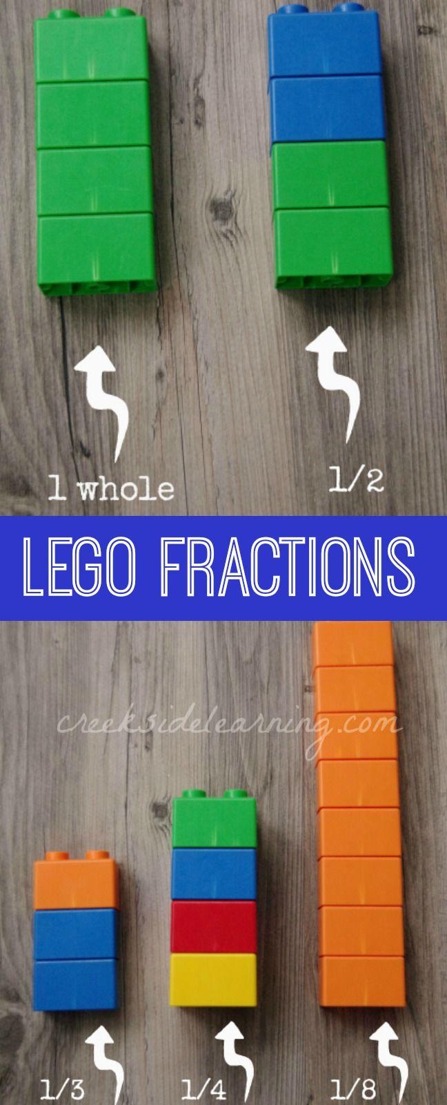 LEGO Fractions for Kindergarten and Preschool.