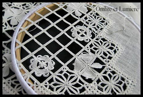 Reticello Lace is one my favorite laces.
