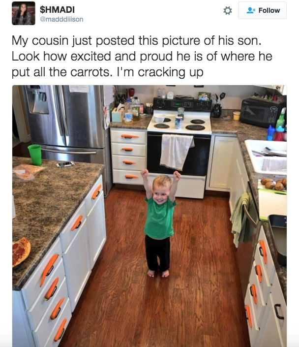 """[This kid has """"interior designer"""" written ALL over him.] 