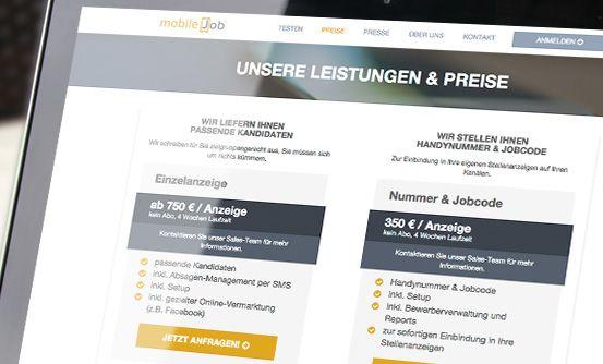 www.mobilejob.com - aplikacja zapewniająca profesjonalną rekrutację pracowników za pomocą SMS // app for professional employees recruitment via SMS