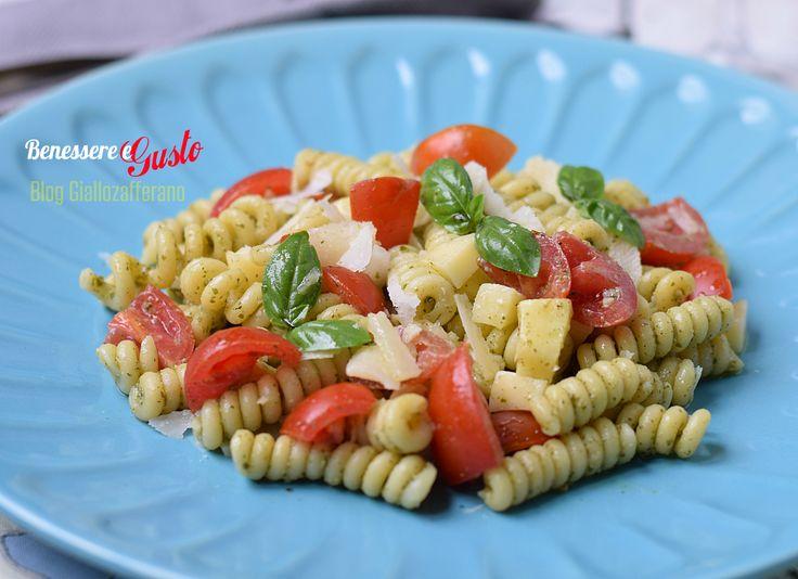 Pasta fredda Pesto Pomodorini Provola
