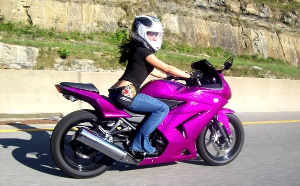 girl on kawasaki ninja - Google Search