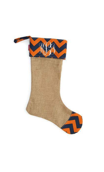 Personalized Auburn Stocking / Auburn Christmas / Monogram Stocking / Embroidered Stocking by CambridgeAvenue on Etsy
