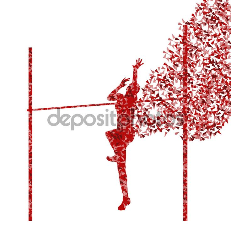 Скачать - Прыжок в высоту женщины атлетика Активная девушка спорта силуэт концепции я — стоковая иллюстрация #67902507
