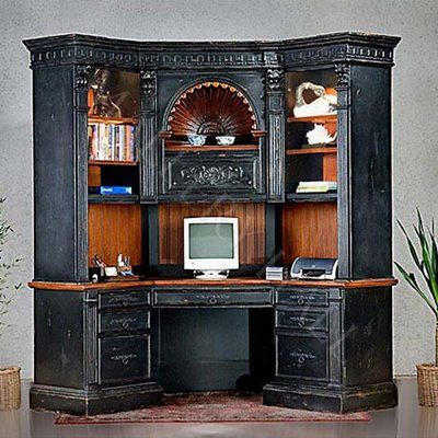 17 best images about desks on pinterest masculine home offices office furniture and bedford - Hutch style computer desk ...