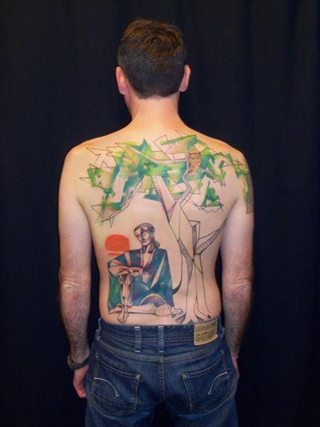 watercolor tattoo by sara rosenberg, berlin