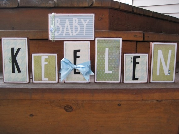 213 best baby names images on pinterest names baby names and items similar to super cute baby name decorated wood blocks perfect baby shower gift negle Choice Image