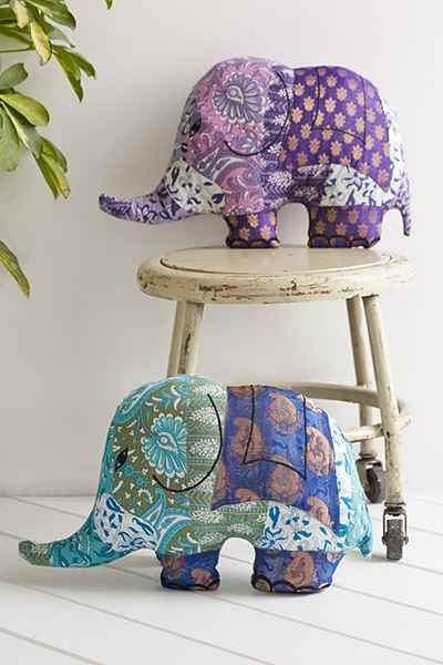 Magical Thinking Silk Sari Elephant Pillow - Urban Outfitters