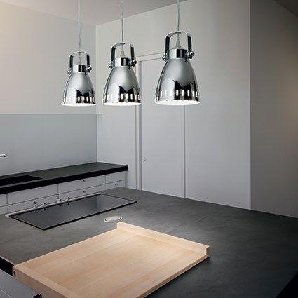 Żyrandol Presa - idealne rozwiązanie do kuchni nad wyspę lub do jadalni. Producent: Ideal Lux.
