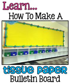 How to Make a Tissue Paper Border - I really love this idea for a party also.