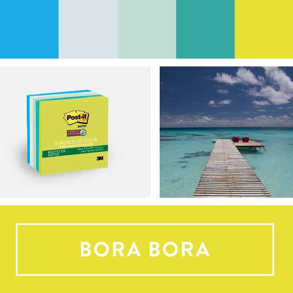 Explore the Post-it World of Color Bora Bora Collection This is - collection note