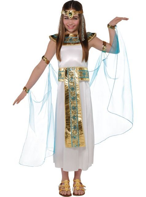 Little Girls Shimmer Cleopatra Costume To Be Halloween