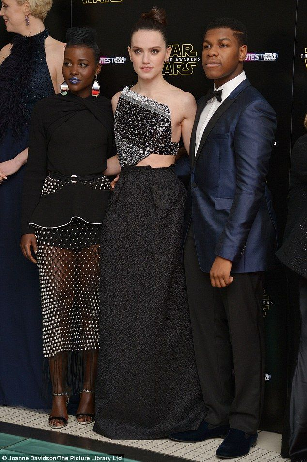 Out of this world: Movie's newcomers Lupita Nyong'o, Daisy Ridley and John Boyega pulled o...