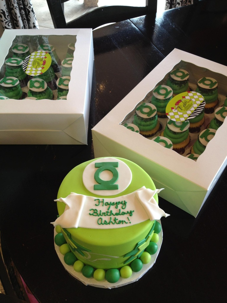 Green Lantern Cake Decorating Kit : 46 best Green Lantern Birthday images on Pinterest