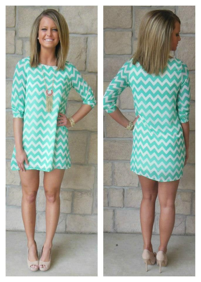 super cute chevron dress perfect for a night out or a summer wedding