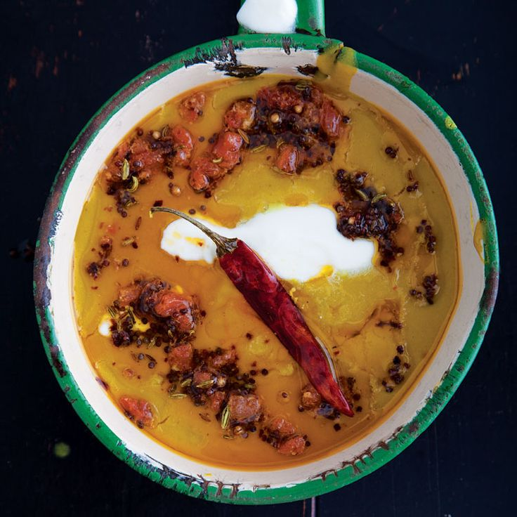 Mulligatawny | The Indian antecedent to my favorite soup, mulligatawny, likely was a thin, spicy lentil broth. The British thickened it, added meat, but, thankfully, kept the glorious Indian spices. —Madhur Jaffrey, author of Curry Nation (Ebury, 2012) | From: saveur.com