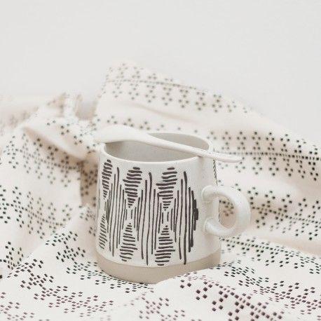 Mug Eliana motif ethnique 4 de Bloomingville – Vaisselle – Twicystore