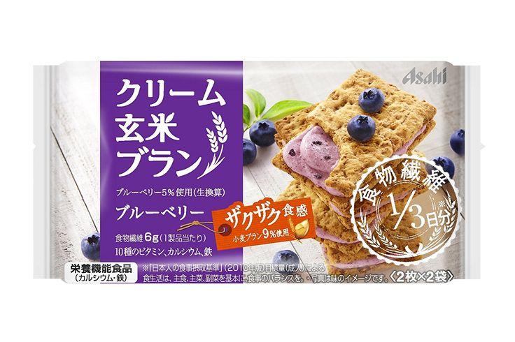 Amazon | アサヒグループ食品 クリーム玄米ブラン ブルーベリー 2枚×2袋 | 栄養補助スナック | 通販