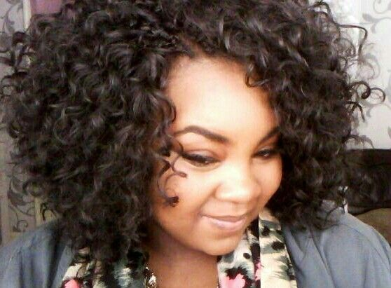 Curly crochet braids | Protective/Natural Hair Styles | Pinterest | Good news Curly crochet ...