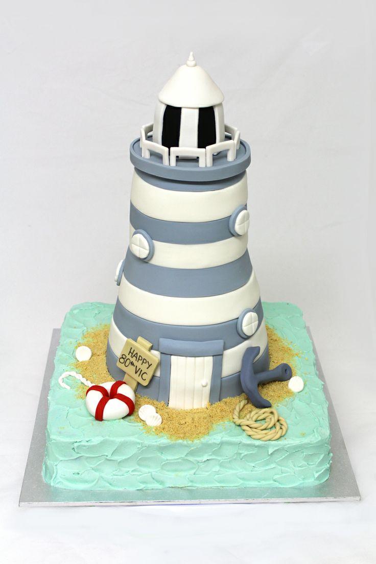 3D Lighthouse cake by Sweet Bakery & Cakery (Wellington, NZ - www.sweetbakery.co.nz)