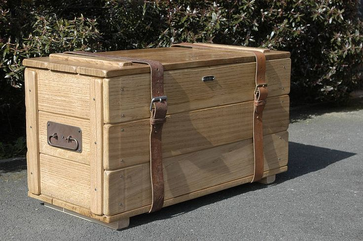 solid oak vintage style travel trunk by daughters of the revolution | notonthehighstreet.com