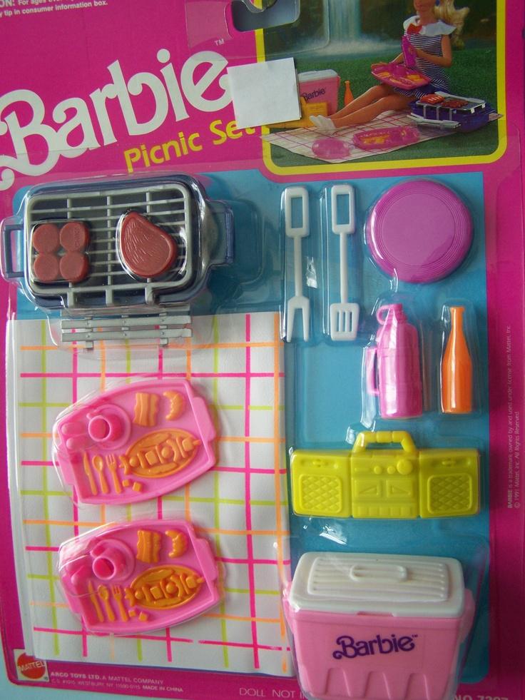 1991 barbie picnic set accessories barbie blast from the. Black Bedroom Furniture Sets. Home Design Ideas