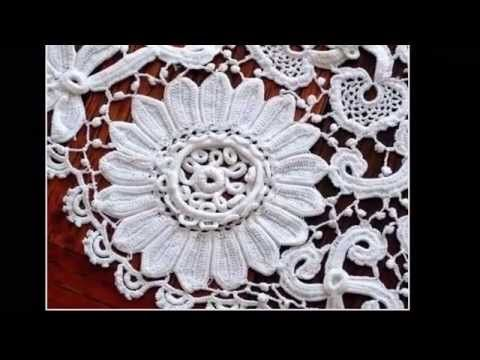 Элемент для ирландского кружева.Crochet flower pattern.Irish lace. encaje…