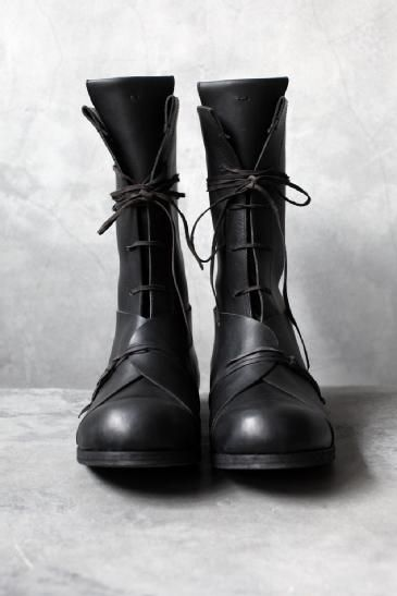 ANCHORET INDIVIDUAL SENTIMENTS - AW10 CALF LEATHER HIGH LACE BOOT