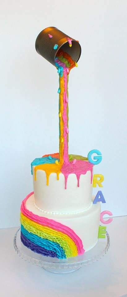Buttercream cakes and white chocolate paint - Cakes by Kerrin