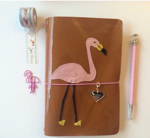 A personal favorite from my Etsy shop https://www.etsy.com/listing/192943144/leather-travelers-notebookpink