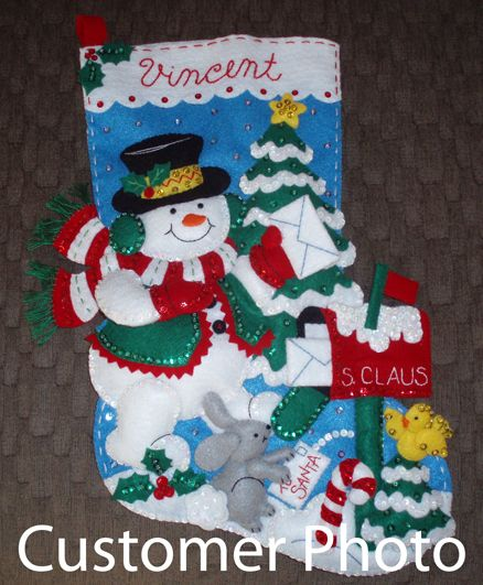 Bucilla Stocking Kit Customer Photo