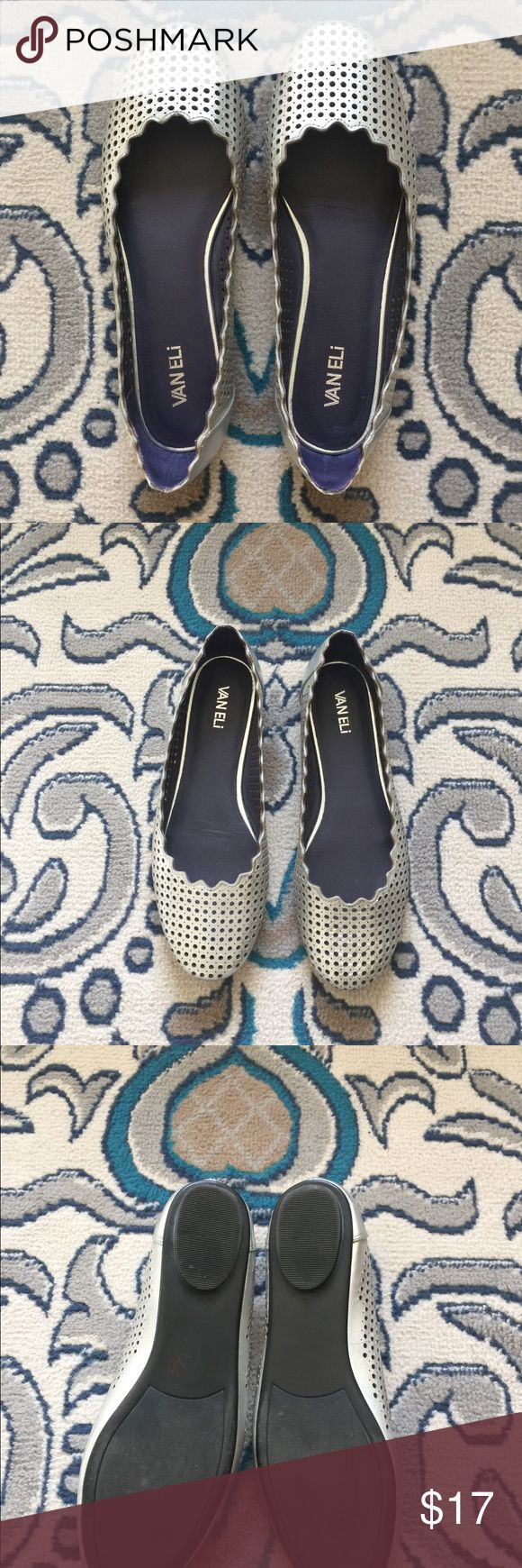 VANELI SILVER BALLET FLATS These adorable flats are gently used. Silver and perforated. Size 8.5. Great for the office or bring some shimmer to any outfit. Bundle and save! Vaneli Shoes Flats & Loafers