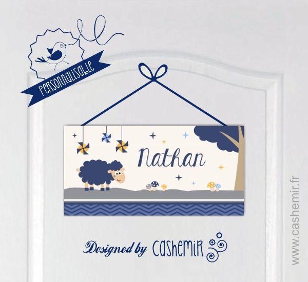 Plaque de porte prénom chambre enfant bébé garçon personnalisable, décoration chambre - Fichier Imprimable - n°24 : Décoration pour enfants par cashemir