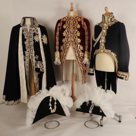 Petite tenue du sacre de l'Empereur Costume reproductions for Napoleon's Ist second wedding.